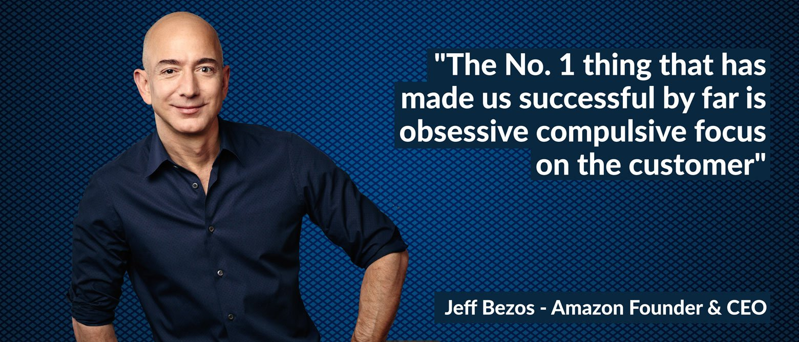 Jeff Bezos talking about Amazon brand values relating to consumer obsession