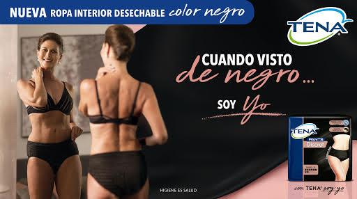 Advert showing the new Tena Negro range