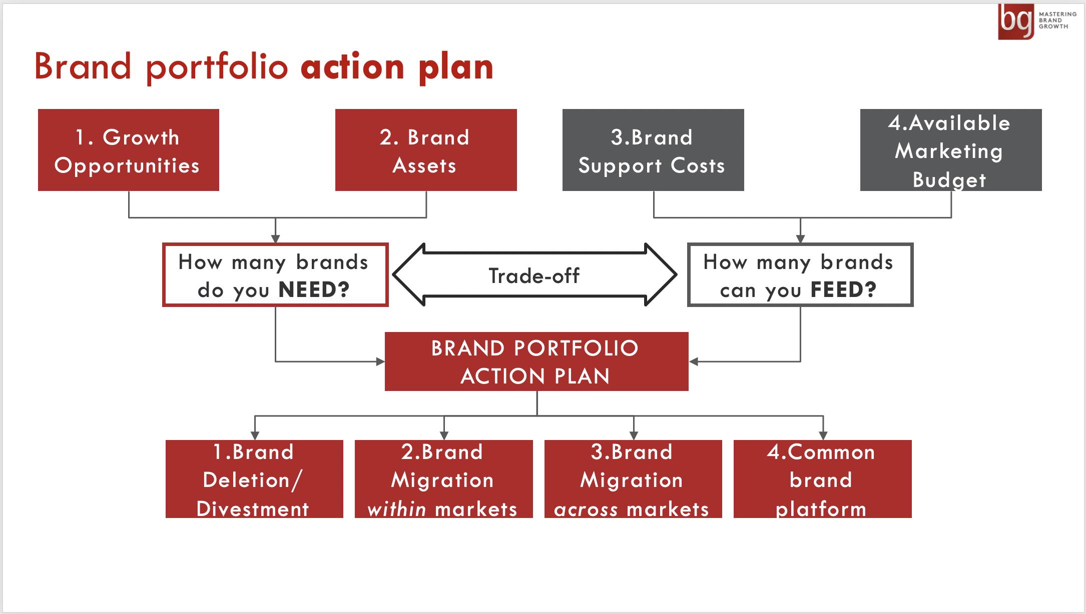 Brand portfolio action plan